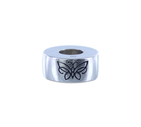Sterling Silver Butterfly Engraved Charm Jewelry Cremation Urn