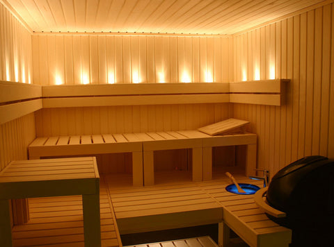 Custom Built 6' x 8' Finnish sauna kit, complete interior package
