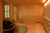 Custom Built 9' x 9' Finnish sauna kit, complete interior package
