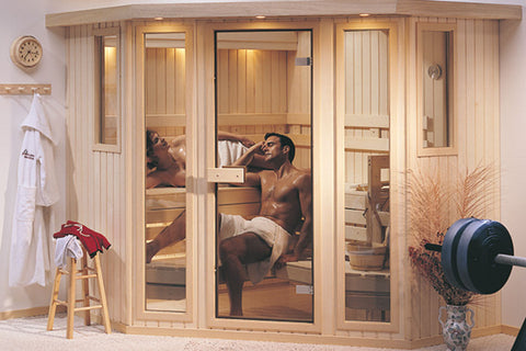 Custom-Cut Sauna Moonlight Interior