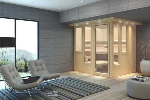Custom-Cut Sauna Mystique Interior