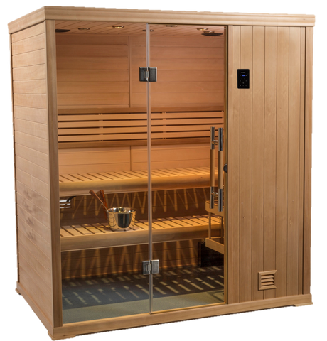 New 2020 4' x 6' Finnish Sauna Bluetooth stereo & WIFI 240 volt