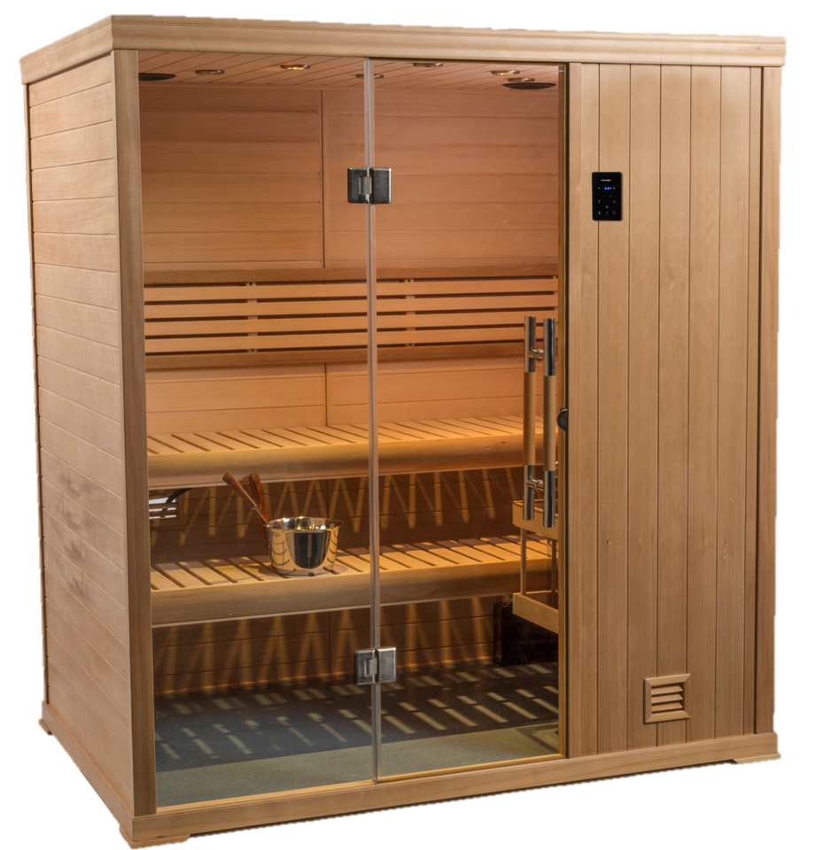 New 2020 Hallmark 4' x 6' Finnish Sauna Bluetooth stereo & WIFI 240 volt