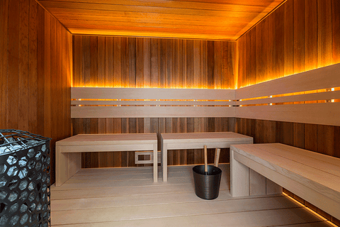 Custom-Cut Sauna Deco Interior