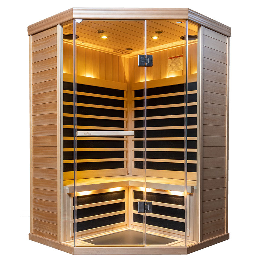 3 Person S-870 Low EMR/Low EF Infrared Sauna
