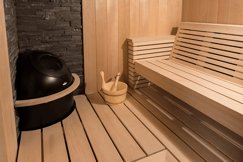Custom-Cut Sauna Seaside Interior
