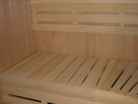 Custom Built 4' x 6' Finnish sauna kit, complete interior package