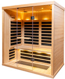 3 Person S-830 Low EMR/Low EF Infrared Sauna