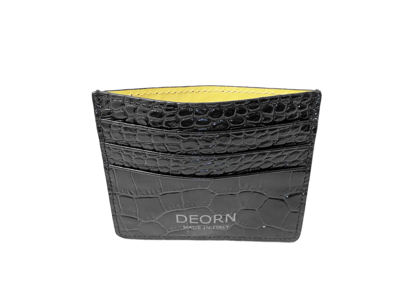 DEORN Black and Yellow Card Holder