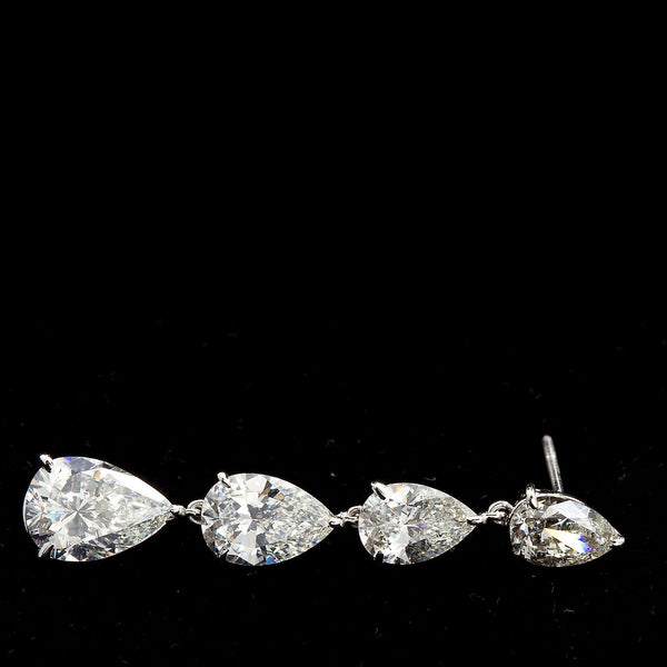 11.83 Carats Pear Shape Diamond Dangle Earrings - - TMW Jewels Co.