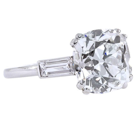 JANESICH 5.16 Carat H/VS2 GIA Old Cushion Brilliant Diamond Ring - 1516 - TMW Jewels Co.
