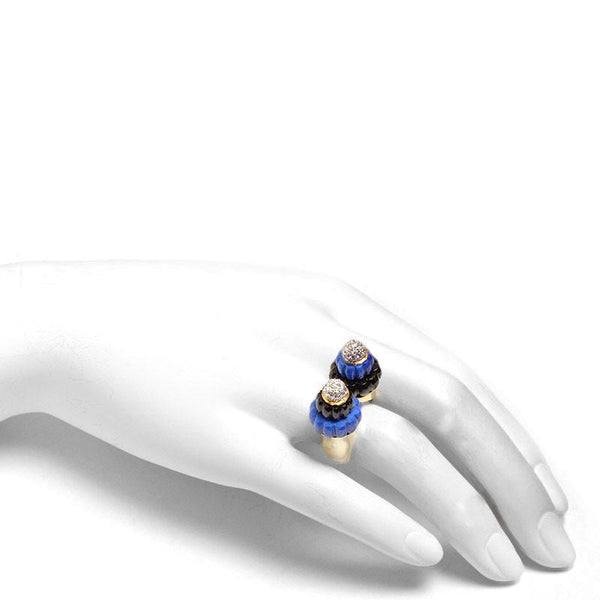 Vintage Diamond & Lapis Lazuli Twin Minarets Ring - 2267 - TMW Jewels Co.