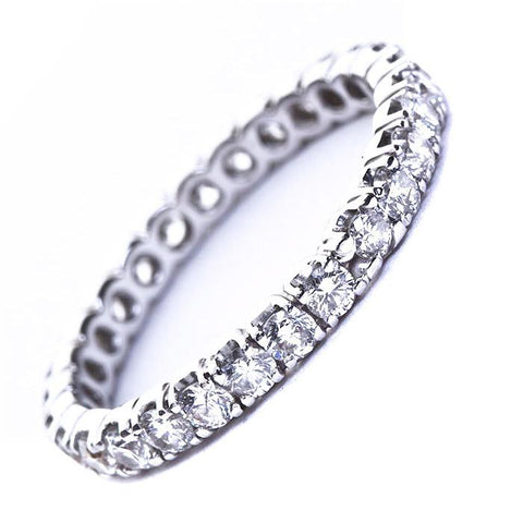 One Carat Round Brilliant Cut Diamond Wedding Band - 3383 - TMW Jewels Co.