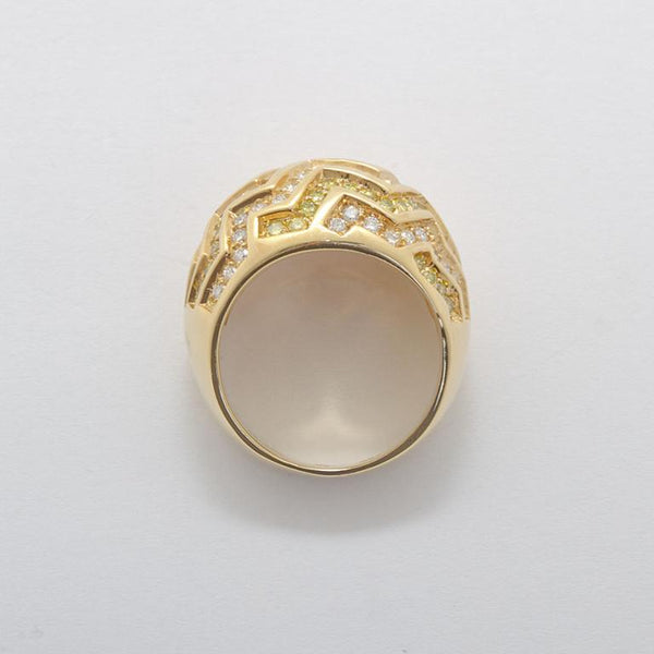 CARTIER Yellow and White Diamond Dome Ring - 3686 - TMW Jewels Co.