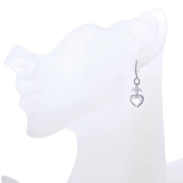 3.32 Carats Angels and Hearts Diamond Dangle Earrings GIA Certified - 4003 - TMW Jewels Co.