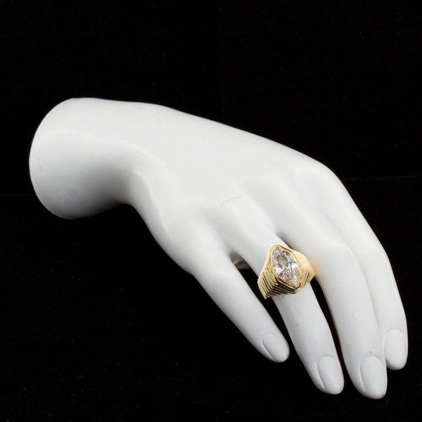 Bulgari 5.04 Carat Marquise Diamond Engagement Ring GIA Cert - 4229-4228 - TMW Jewels Co.