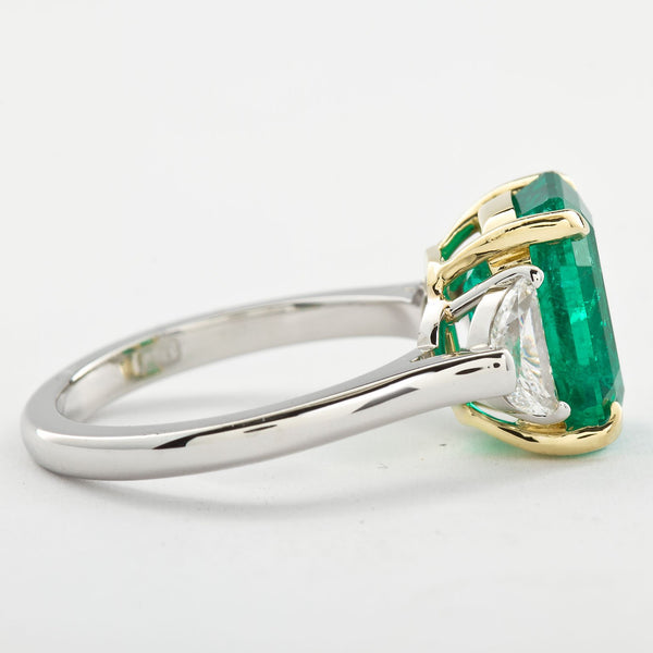 4.31 Carat Colombian Emerald Engagement Ring - - TMW Jewels Co.