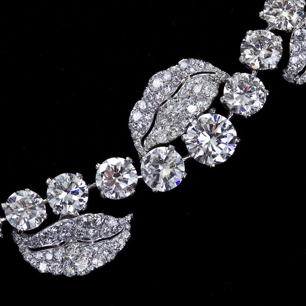 Grand French Garland Diamond Rivieré Necklace