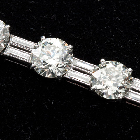 28 Carats 1960s Vintage Fine Diamond Tennis Bracelet - 7846 - TMW Jewels Co.