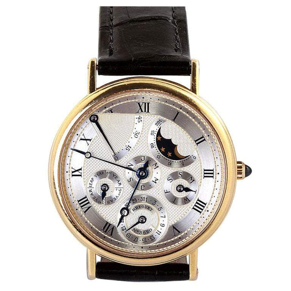 Breguet Yellow Gold Classique Complications Collection Mens Wristwatch - TMWJ-2452 - TMW Jewels Co.