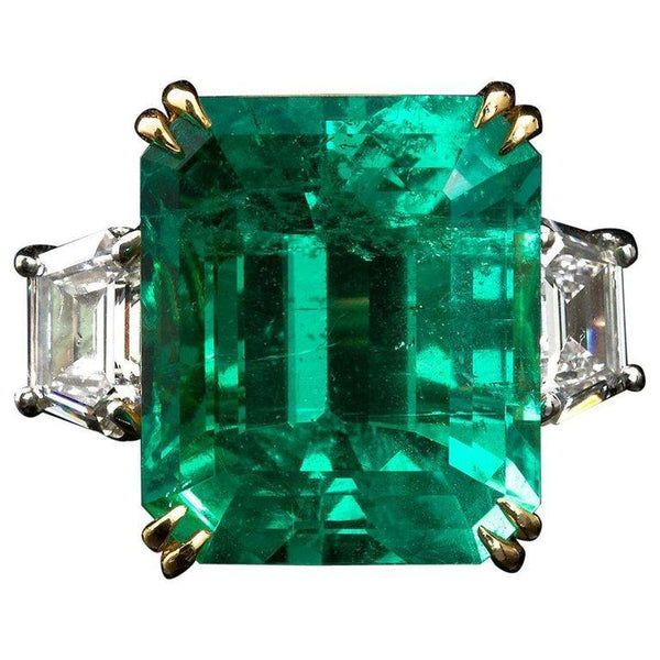 PATRICE Large Colombian Emerald Engagement Ring - TMWJ-5363-5305 - TMW Jewels Co.