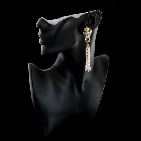 Diamond Pave Lion Head Ear Clips Convertible - TMWJ-5798 - TMW Jewels Co.