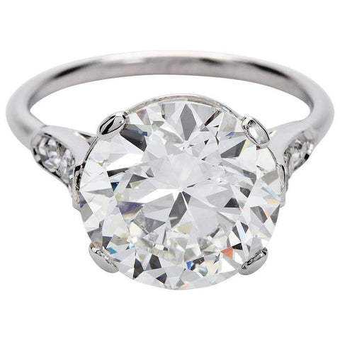 Cartier Art Deco 4.41 Carat Round Diamond Engagement Ring - TMWJ-5846 - TMW Jewels Co.
