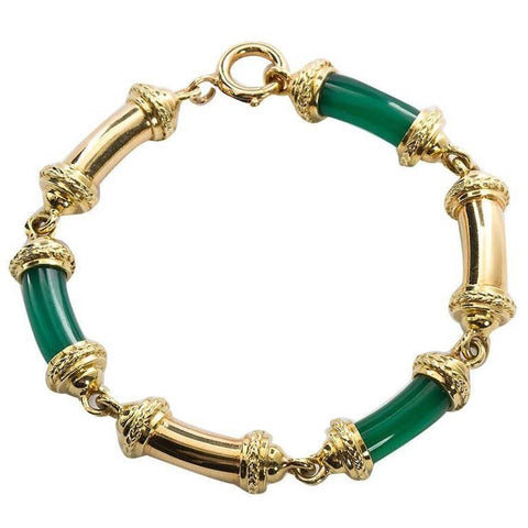 Vintage Tiffany & Co. Imperial Jade Tube Bracelet - TMWJ-5847 - TMW Jewels Co.