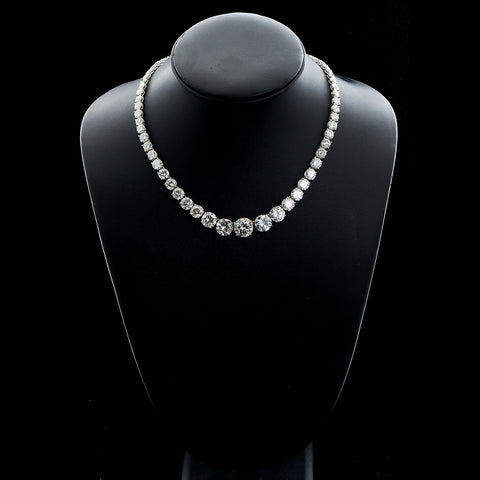 Grand Diamond Rivière Necklace 65 Carats - TMWJ-6974 - TMW Jewels Co.