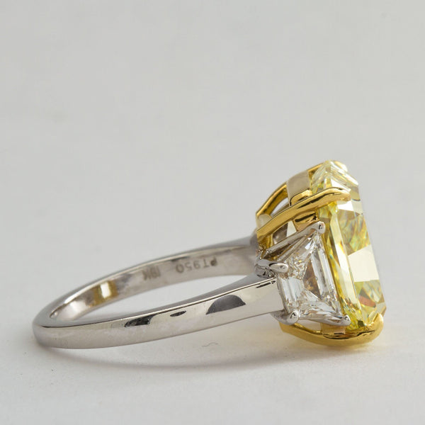 Fancy Yellow Diamond Engagement Ring 7.34 Carat GIA Certified - TMWJ-7728-8617 - TMW Jewels Co.