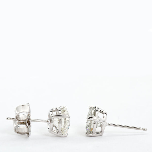 3.00 Carat Round Diamond Stud Earrings - TMWJ-8193 - TMW Jewels Co.