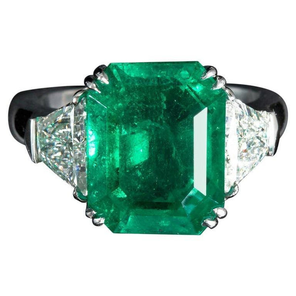 GISELLE Colombian Emerald Engagement Ring - TMWJ-8498-1 - TMW Jewels Co.