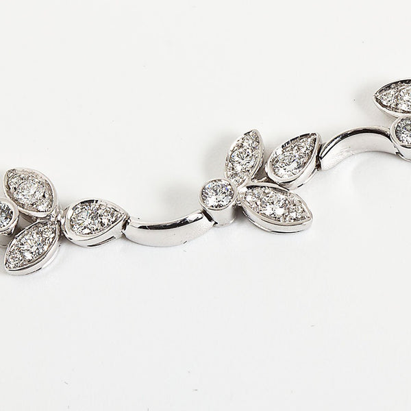 Diamond White Gold Floral Vine Wreath Necklace 8.00 Carats - TMWJ-8821 - TMW Jewels Co.