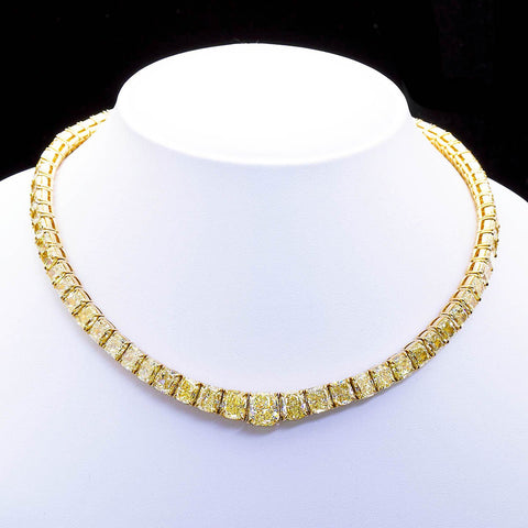 100 Carat Grand Fancy Yellow Diamond Necklace - TMWJ4730 - TMW Jewels Co.