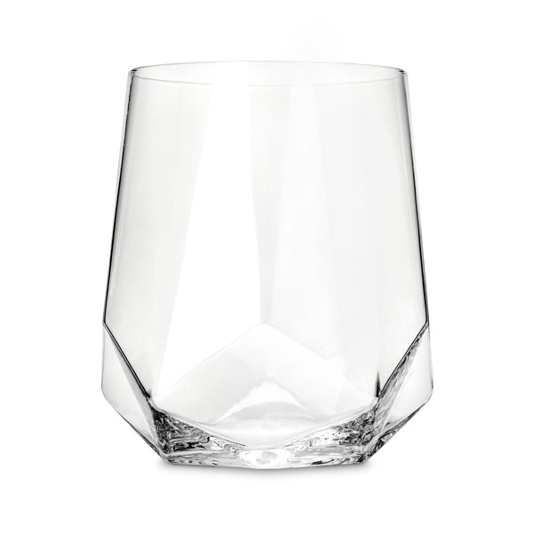 Faceted Crystal Wine Glass (Set of 2) - BINTBIZ