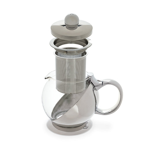 Stainless Steel Wrapped Teapot & Infuser