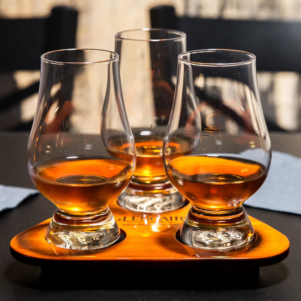 Glencairn Glass Tasting Set  Glasses with Tray - BINTBIZ