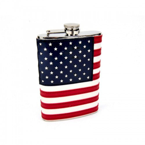 8oz Stitched American Flag Flask - BINTBIZ