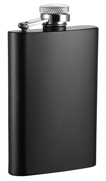Mini Black Matte Stainless Steel Liquor Flask - 4 ounces - BINTBIZ