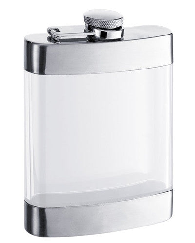 Clear See Thru Satin Finish Hip Flask - BINTBIZ