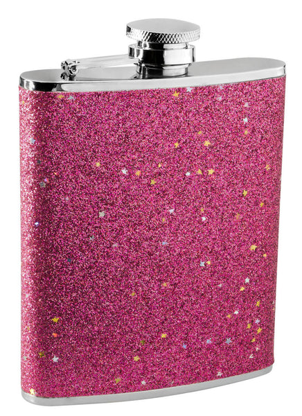 Glitter Liquor Flask for Women - 6 oz. - BINTBIZ