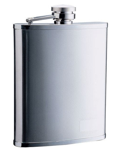 Barley Pattern Stainless Steel Hip Flask - 18 oz - BINTBIZ