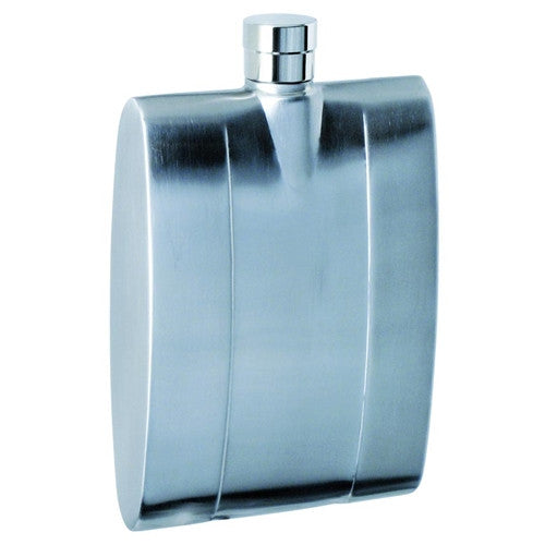 Contemporary Stainless Steel 4oz Liquor Flask - BINTBIZ