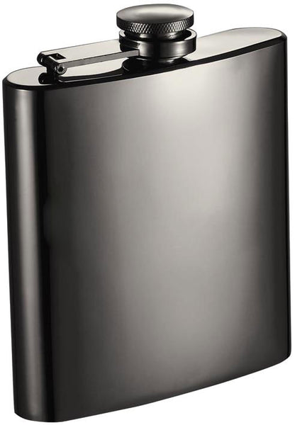 Brons Gunmetal Hip Flask - 6 oz - BINTBIZ