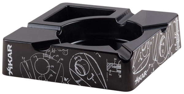 Xikar Essence Black Ashtray - BINTBIZ