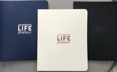 Authentic Life Journal, Black, Ivory or Blue (now also in Red Spanish version)