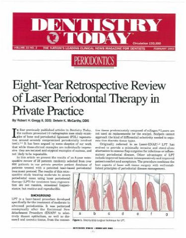 Reprint - Dentistry Today; February 2003 - Qty 25