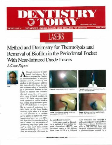 Reprint - Dentistry Today; April 2005 - Qty 25