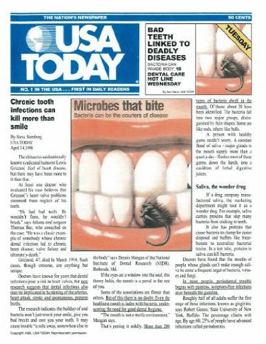 Reprint - USA Today Article; April 1998