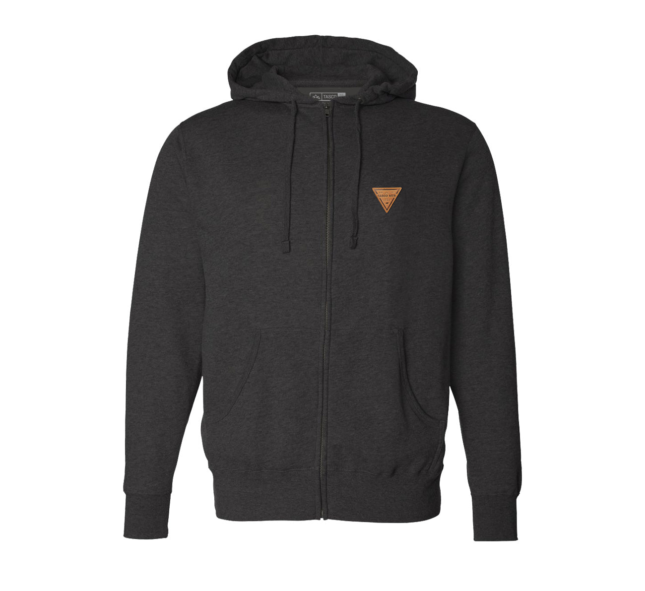 Leather Triage Badged Zip Hoodie